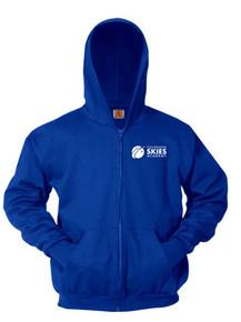 Royal Full Zip Hooded Sweatshirt - Colorado SKIES Acad.