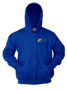 Royal Full Zip Hooded Sweatshirt - Colorado SKIES Academy