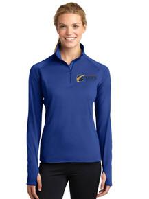 Royal Ladies Long Sleeve Smooth 1/4 Zip - Colorado SKIES Academy
