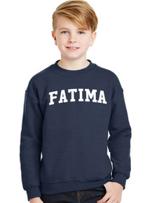Crew-neck Fleece Sweatshirt with FATIMA logo