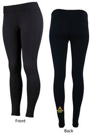 Black Leggings with Heat Press on back of leg - ABG
