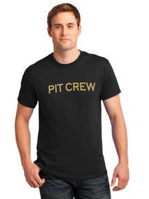 Black Pit Crew Short Sleeve Cotton T-Shirt - ABG