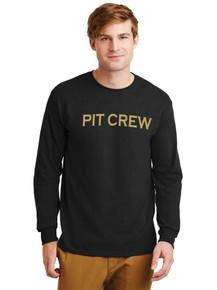 Black Pit Crew Long Sleeve Cotton T-Shirt -ABG