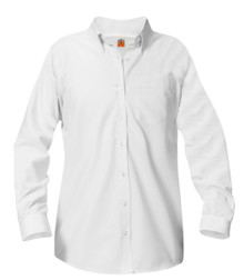 Girls Long Sleeve Oxford Blouse - White