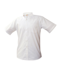 Boys Short Sleeve Oxford Shirt - White