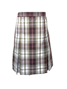Girls Skirt - Center Box Pleat in Plaid KW