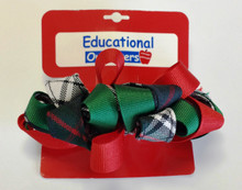 Ribbon Burst Barrette in Plaid 50