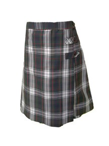 Girls Skort - 2 Button Tabs in Plaid 50
