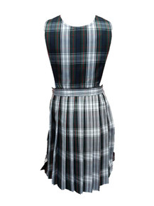 Girls Jumper - Knife Pleat Skirt, Pinafore Top in Plaid 50