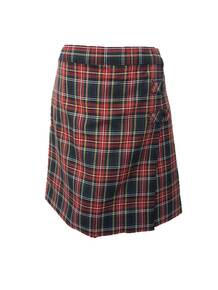 Girls Skort - 2 Button Tabs in Plaid 56