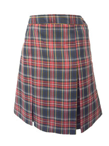 Girls Skirt - Center Box Pleat in Plaid 56