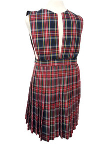 Girls Jumper - Knife Pleat Skirt, Slit Front Top in Plaid 56