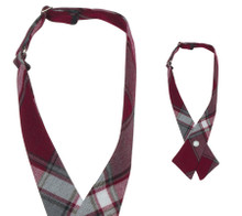 Girls Crossover Tie Plaid 91