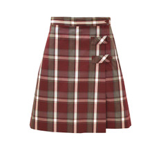 Girls Skort - 2 Button Tabs in Plaid 91