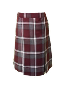 3-8th Grade Girls Mass Skirt - Center Box Pleat in Plaid 91