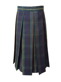 Girls Skirt - Box Pleat in Plaid 83