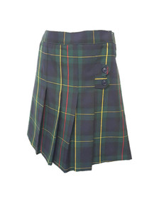 Girls Skort - Two Tab w/Pleats in Plaid 83