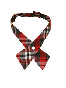 Girls Crossover Tie Plaid 69