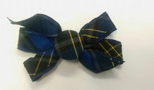 Monarch Button Bow on Barrette Plaid 92