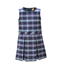 Girls Jumper - Drop Waist in Plaid 9A