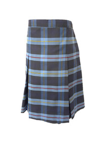 Girls Skirt - Center Box Pleat in Plaid 9A