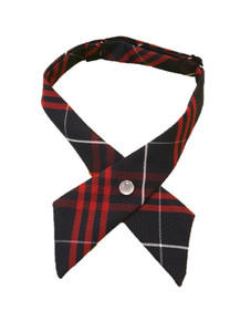 Girls Crossover Tie Plaid 36