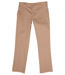 Value Line Girls Pant - Flat Frt Low Rise Pant - Khaki or Navy