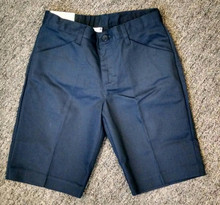 Valine Line Boys Short - Flat Front Short - Khaki or Navy