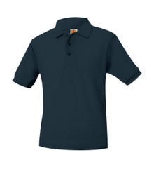 Pique Knit Short Sleeve Polo Shirt - Monument