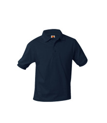 Jersey Knit Short Sleeve Polo Shirt - Monument