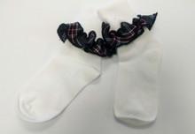 Ruffle Sock in Plaid 6T