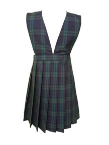 Girls Jumper - V-Neck top, Knife Pleat Skirt in Plaid 79