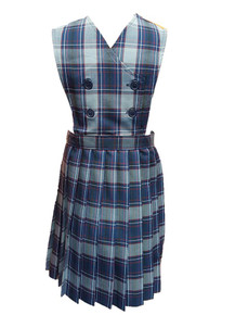 Girls Jumper - Knife Pleat Skirt, Double Breasted top in Plaid 82
