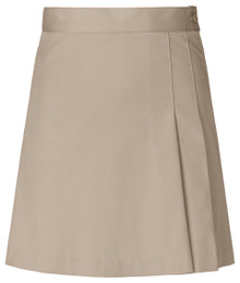 Girls Skort - 2 Pleat Front & Back - Khaki or Navy