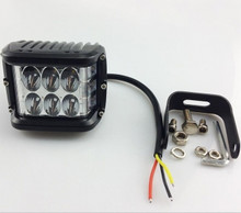 48W Ditch Light w/ Side Facing Red LEDs