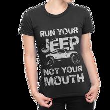 """Run Your Jeep"" Ladies Crew Shirt"