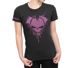 River Raider Heart Splatter Ladies Crew Shirt