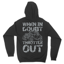Throttle Out Skull Hooded Sweatshirt