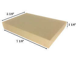 "Kraft Brown Cotton Filled Boxes - 7 1/8"" x 5 1/8"" x 1 1/8""H"