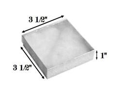 "10 Boxes-SilverFoilClearTopCottonFilledBoxes-3 1/2"" x 3 1/2"" x 1""H"
