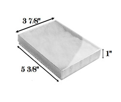 "10 Boxes-SilverFoilClearTopCottonFilledBoxes-5 3/8"" x 3 7/8"" x 1""H"