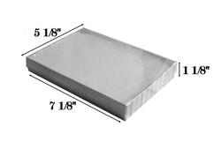"10 Boxes-SilverFoilClearTopCottonFilledBoxes-7 1/8"" x 5 1/8"" x 1 1/8""H"