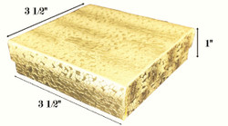 "Gold Foil Cotton Filled Boxes - 3 1/2"" x 3 1/2"" x 1""H"