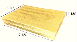 "Gold Foil Cotton Filled Boxes - 7 1/8"" x 5 1/8"" x 1 1/8""H"