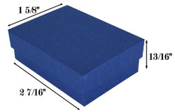 "Navy Kraft Cotton Filled Boxes - 2 7/16"" x 1 5/8"" x 13/16""H"