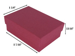 "Red Kraft Cotton Filled Boxes - 2 7/16"" x 1 5/8"" x 13/16""H"