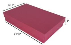 "10 Boxes-RedKraftCottonFilledBoxes-5 7/16"" x 3 1/2"" x 1""H"