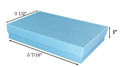 "Baby Blue Kraft Cotton Filled Boxes - 5 7/16"" x 3 1/2"" x 1""H"