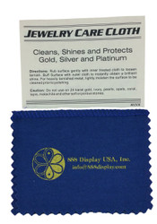 4x6 Blue/Yellow Jewelry Polishing Cloth