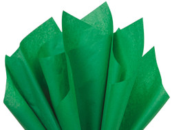 "Festive Green Tissue Paper 15"" x 20"" - 50 Sheets"